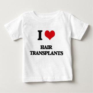 Amo trasplantes del pelo camiseta