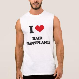 Amo trasplantes del pelo camisetas sin mangas
