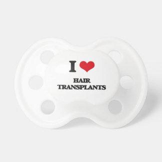 Amo trasplantes del pelo chupete de bebe