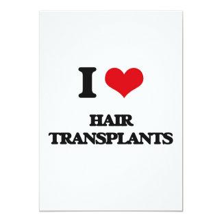 Amo trasplantes del pelo invitación 12,7 x 17,8 cm