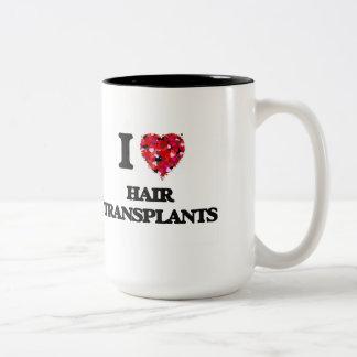 Amo trasplantes del pelo taza dos tonos