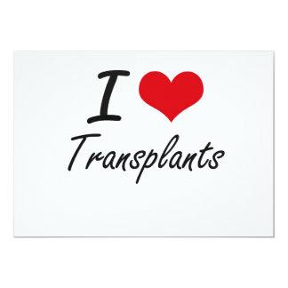 Amo trasplantes invitación 12,7 x 17,8 cm