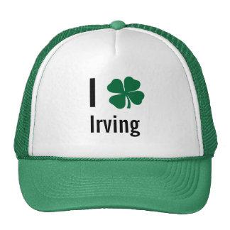 Amo (trébol) día del St Patricks de Irving Gorro