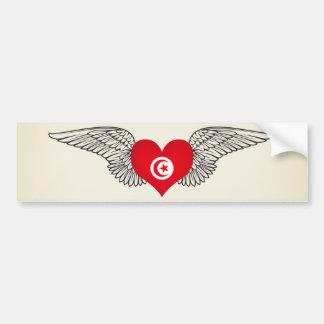 Amo Túnez - alas Pegatina Para Coche