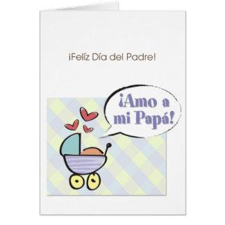 ¡¡Amo un papá del MI! Tarjeta De Felicitación