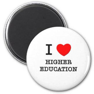 Amo una educación más alta imán de frigorifico