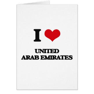 Amo United Arab Emirates Tarjeta De Felicitación