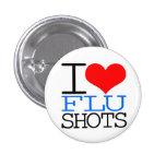 Amo vacunas contra la gripe pins