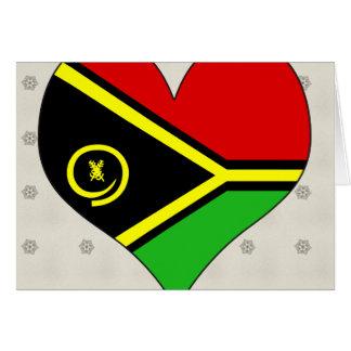Amo Vanuatu Tarjeta De Felicitación
