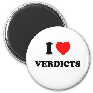 Amo veredictos iman de nevera
