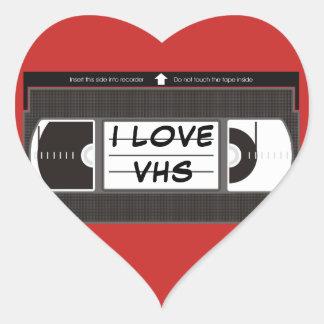 Amo VHS Pegatina En Forma De Corazón