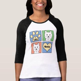 Amo Westies Camisetas