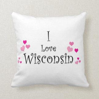 Amo Wisconsin Cojín Decorativo