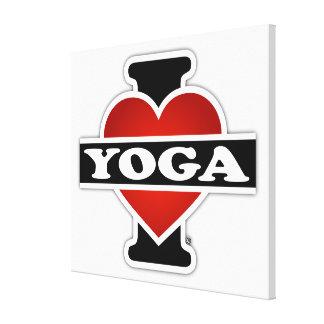 Amo yoga lienzo envuelto para galerías