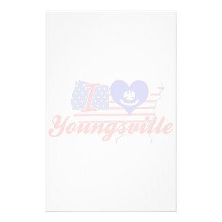 Amo Youngsville, Luisiana Papelería Personalizada
