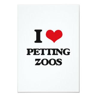 Amo zoo-granja invitación 8,9 x 12,7 cm