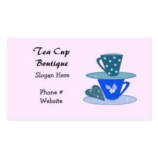 Amontonamiento de la tarjeta de visita de las taza