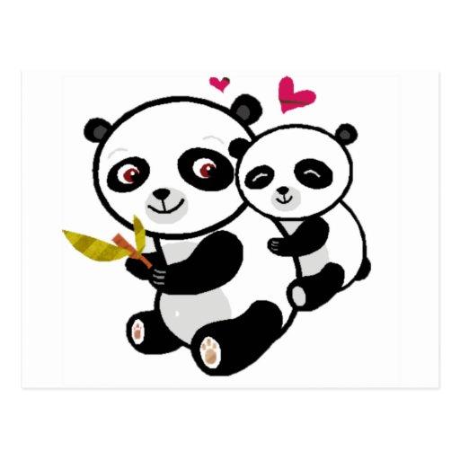 Amor <3 de la panda postal