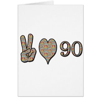 Amor 90 de la paz tarjeton