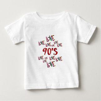 Amor 90s del amor camiseta de bebé