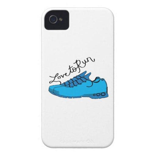 Amor a correr Case-Mate iPhone 4 coberturas