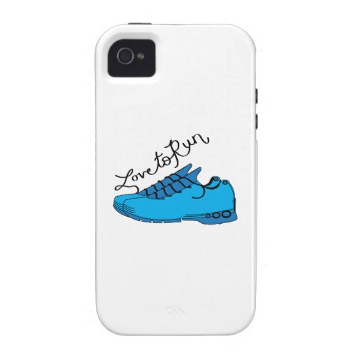 Amor a correr iPhone 4/4S carcasa