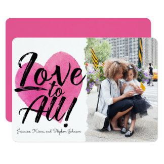 Amor a la tarjeta del día de San Valentín de la Invitación 12,7 X 17,8 Cm