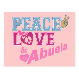 Amor Abuela de la paz Postal
