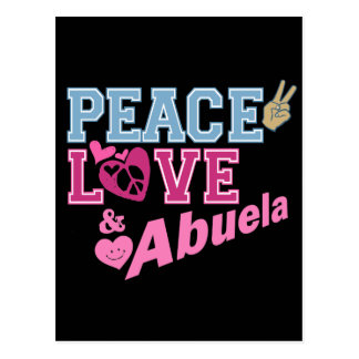 Amor Abuela de la paz Tarjetas Postales