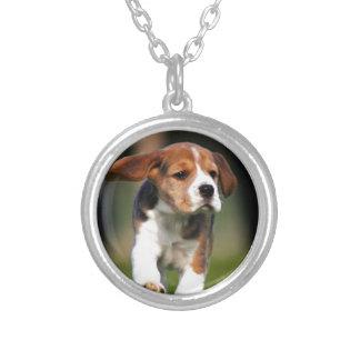 Amor adolescente del beagle colgante redondo