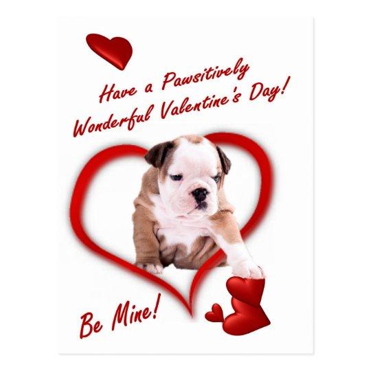 Amor adolescente del dogo en una postal del sobre