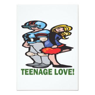 Amor adolescente invitación 12,7 x 17,8 cm