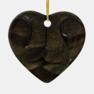 amor africano adorno de cerámica en forma de corazón