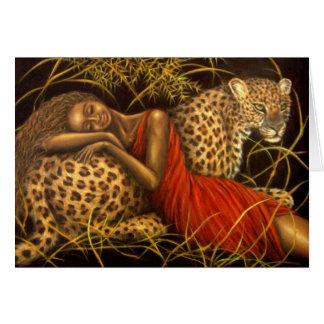Amor africano tarjeta