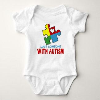 amor alguien con autismo body para bebé