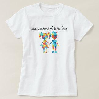 Amor alguien con autismo camiseta