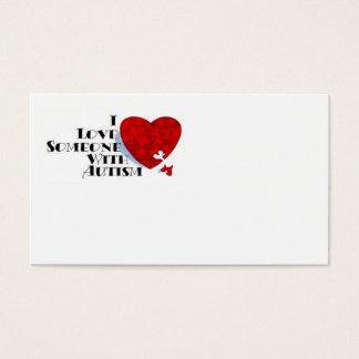 Amor alguien con la tarjeta del autismo