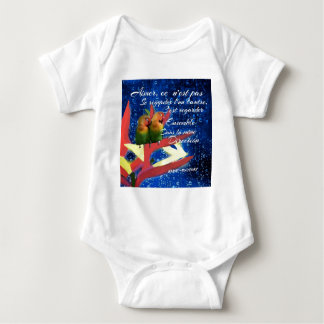 Amor, amorío, mensaje body para bebé