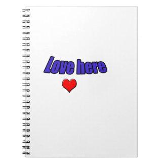 Amor aquí libreta espiral