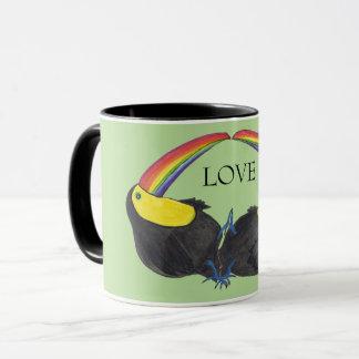 Amor - arco iris de Toucan Taza