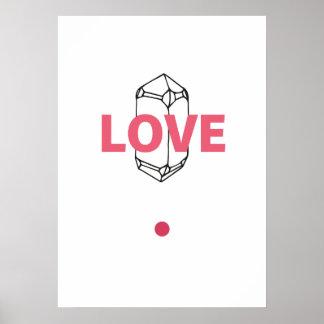 Amor - arte abstracto de Crytal