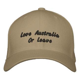 Amor Australia o licencia, gorra de béisbol del
