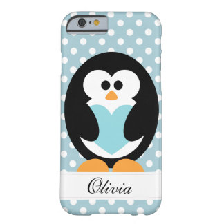 Amor azul del pingüino funda de iPhone 6 barely there