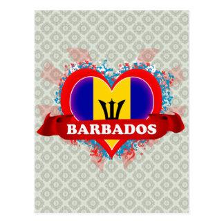 Amor Barbados del vintage I Postal
