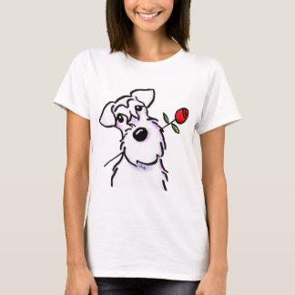 Amor blanco del Schnauzer subió Camiseta