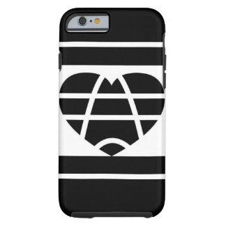 Amor blanco y negro funda resistente iPhone 6