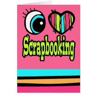 Amor brillante Scrapbooking del corazón I del ojo Tarjeta De Felicitación