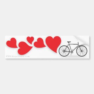 Amor Bumpersticker de la bicicleta Etiqueta De Parachoque