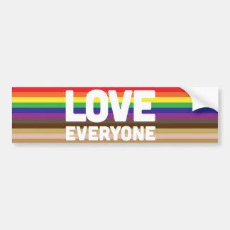 Amor cada uno pegatina para el parachoques