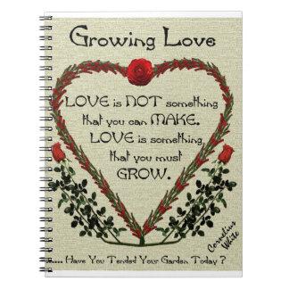 Amor cada vez mayor cuaderno